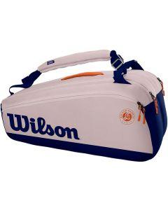 Wilson Roland Garros Premium 9 pack oyster/navy